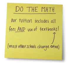 Tuition includes books!